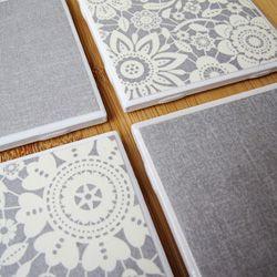 Super-easy homemade tile coasters!