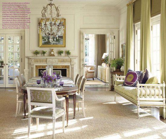 a lovely dining room in veranda