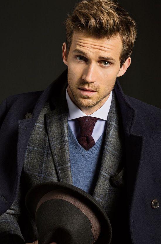Mens Fashion: Shirt, Tie, Sweater, Blazer, Coat!