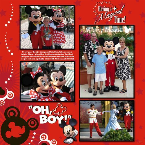 Disney World Idea Page - Creative Memories