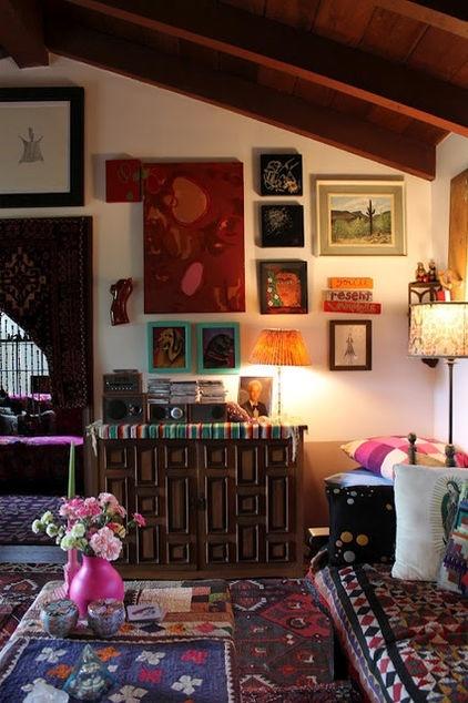 Bohemian Fall jewel tones in Interiors