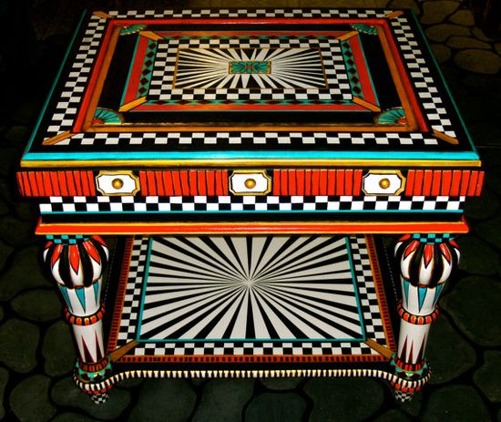 The Great Painted Table by mistyscreations on Etsy