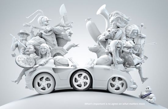 """Michelin: Italy – Germany - """"What's important is to agree on what matters most."""" #Advertising #3D"""