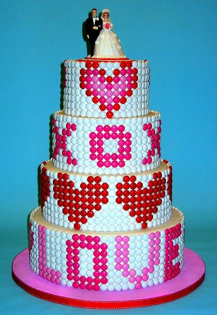M & M Candy Wedding Cake