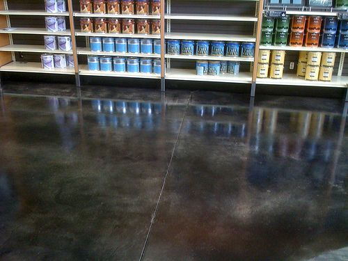 dark stained concrete floor - Google Search