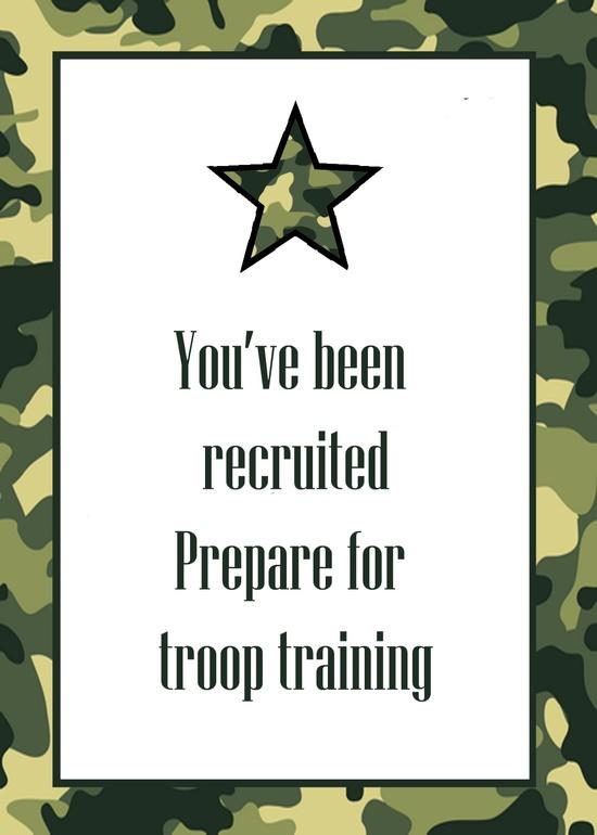 Army Theme Birthday