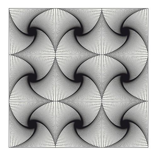 Ilusiones Ópticas. #IlusionOptica #juegos // op art nine squares twist 2