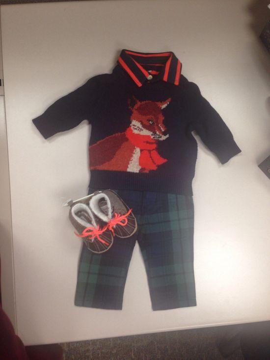 What does the fox say? Cute #baby #boy attire from #gap www.stylebylu.com