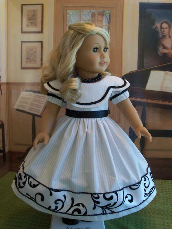American Girl  Gown for Caroline Marie Grace or by Farmcookies,