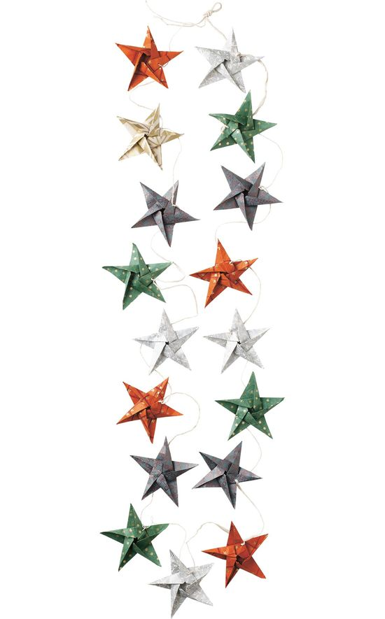 HAND MADE PAPER STAR GARLAND