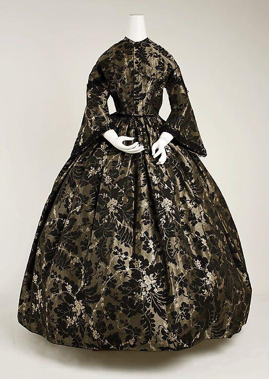 Dress 1850, American, Made of silk
