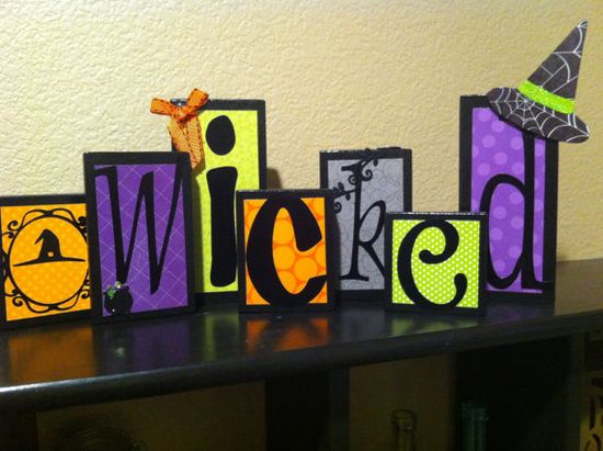 Painted and Decorated Seasonal Halloween Wood by CBunnyCREATIONS, $25.00