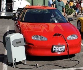 Hybrid car, electric car