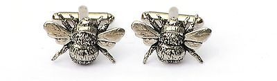 Bee Honey Cufflinks Pewter Hand Made Gift Boxed or Pouched QUANTITY DISCOUNT