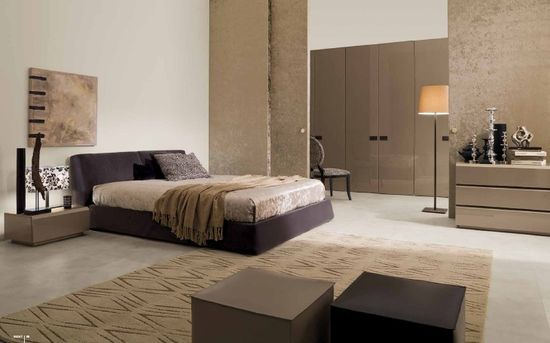 Bedroom. Smart Ideas for Modern Bedroom Designs from Mobileffe: Grey And White Art Deco Modern Bedroom With Brown Wardrobe And Wall Decor ~ Ciiwa