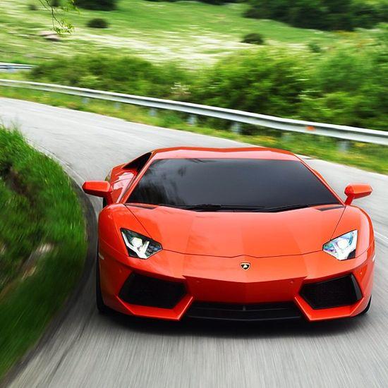 Deep Orange Lamborghini Aventador