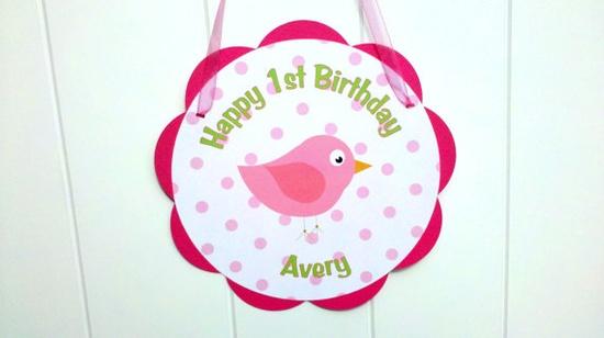 bird birthday party stuff