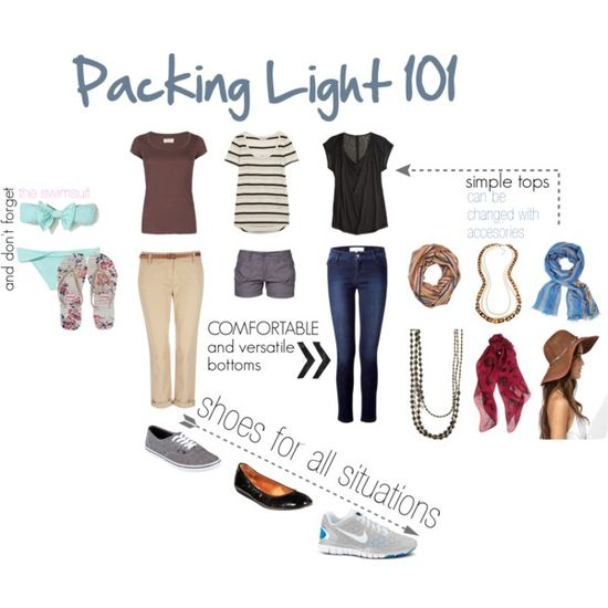 Packing Light #style #fashion #Travel