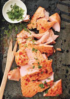 Salmon with Sriracha and Lime Sauce!