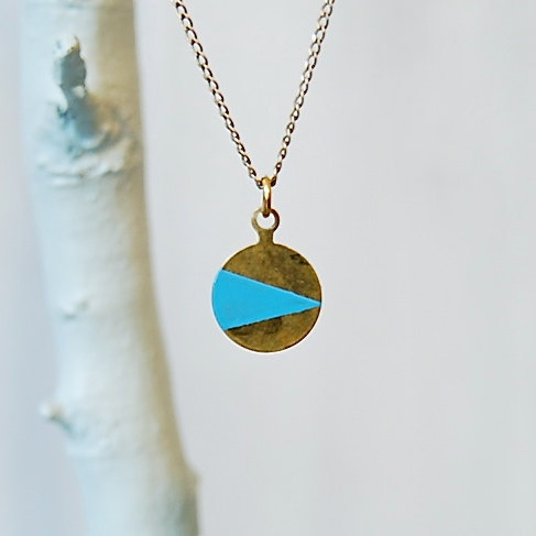 brass geometric necklace by son of a sailor on #etsy