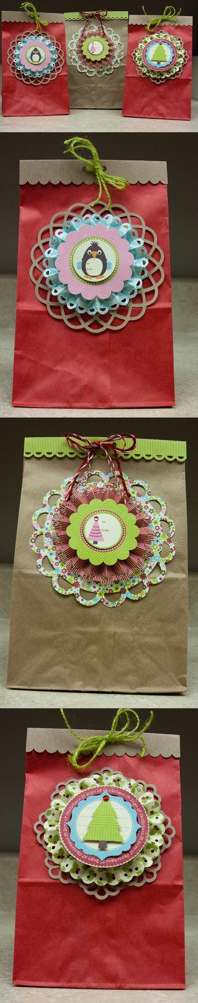 Holiday Treat Bags by Laina Lamb (via Jillibean Soup blog)