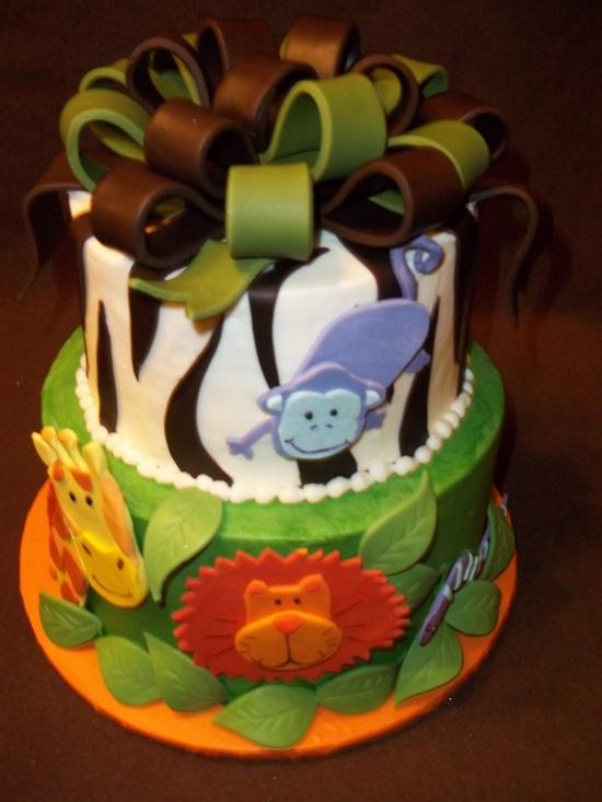 Animal Birthday Cake #birthdaycake