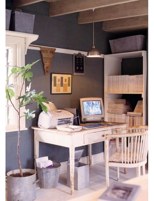 Inspiratie beeld voor werkkamer. home office design - home office