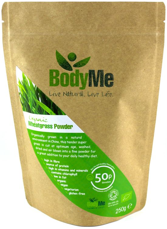 Logo and packaging label design for BodyMe range of organic health superfood supplements by www.lunatrix.co.uk #healthsupplements #superfoods #packagingdesign