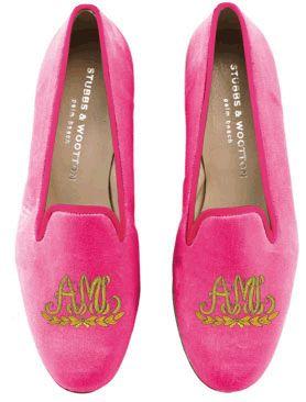 Monogrammed slippers :)