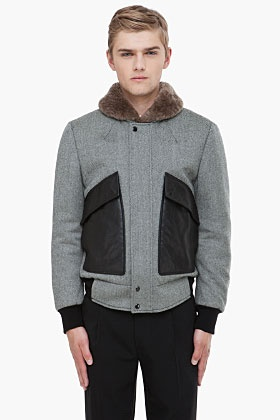 ALEXANDER MCQUEEN Fur Collar Padded Jacket