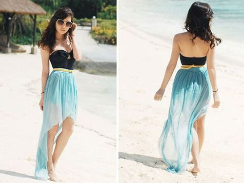 long, flowy skirts