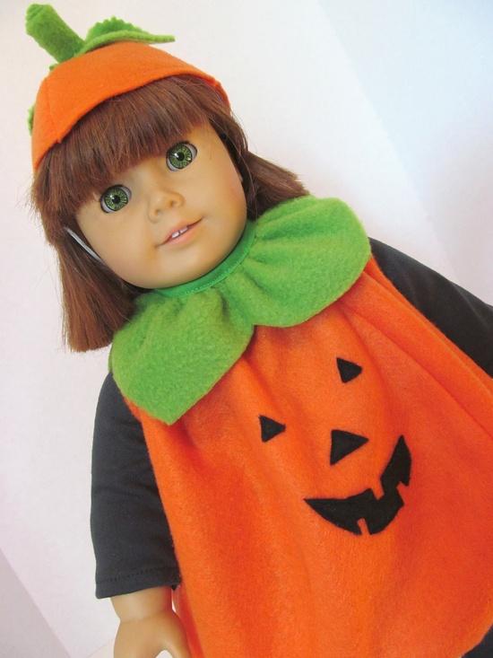 American Girl Doll Clothes, Pumpkin Costume. $20.00, via Etsy.