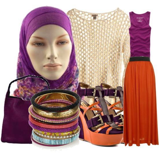 2012 Top 10 Trends-Hijabi Colorblocking, created by verypoorfashionista on Polyvore