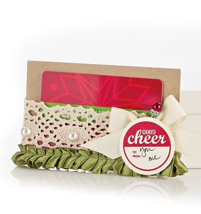 Shabby and lovely gift card holder. I'd love to receive this! Ashley Harris