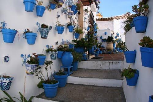 """#Cordoba - #Iznajar - Patios típicos.     37° 15' 23.63"""" N  4° 18' 29.03"""" W .   Fotografía cortesía de Hinojosa."""