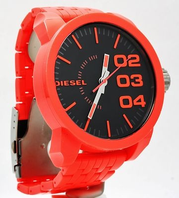 Diesel Orange Plastic Analog Men's Watch #watches