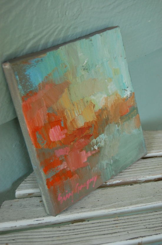 abstracted landscape I by eringregory on Etsy, $100.00