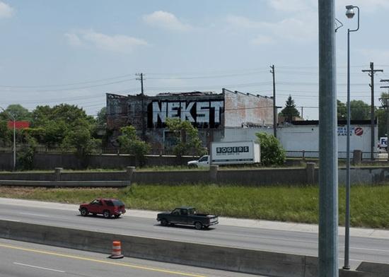 Nekst – read more @ www.juxtapoz.com/... – #graffiti #nekst #freeway