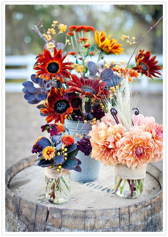 vibrant autumn floral arrangements