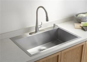 Kohler K-3821-4 Vault Large Single Kitchen Sink