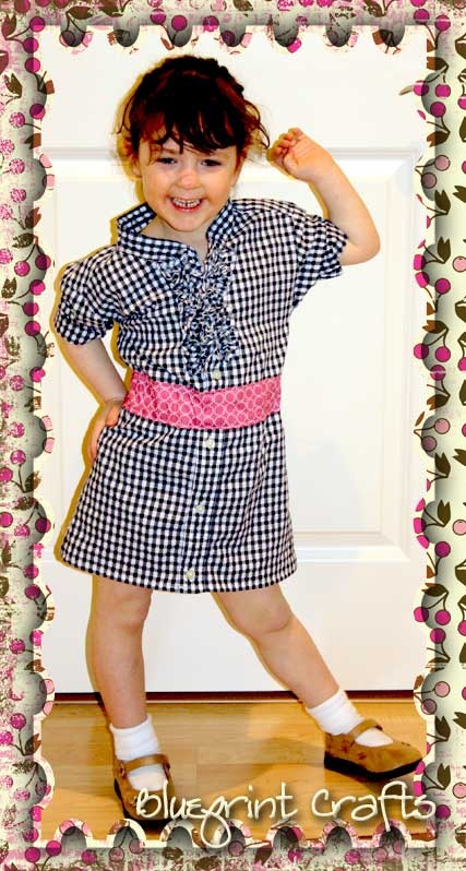 Upcycled dress for little girls from your adult shirt