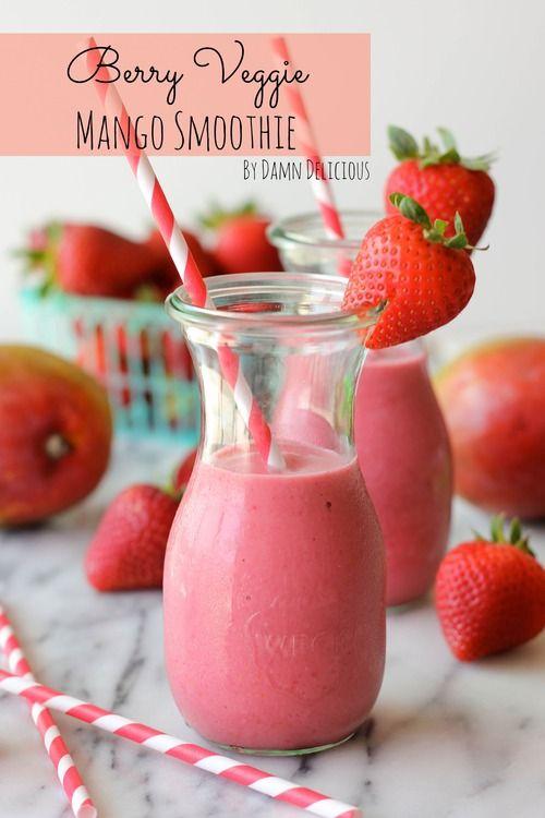 Berry Veggie Mango Smoothie
