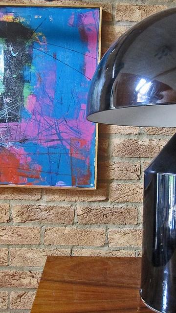 Abstract painting & Atollo lamp
