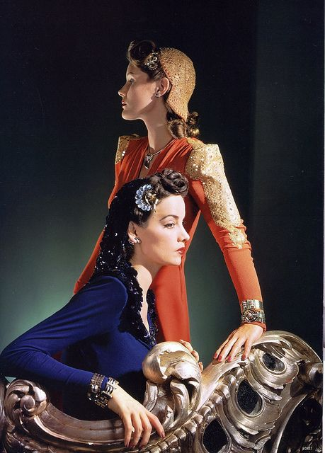 #vintage #1940s #Vogue #fashion #dress #hair