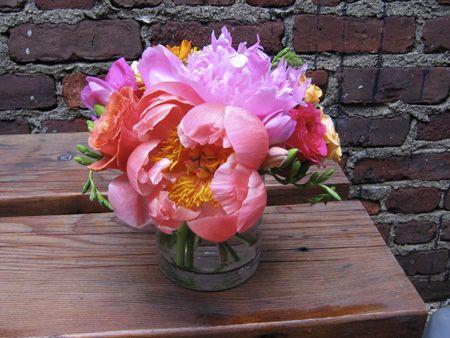 flower arrangements from the orangerie