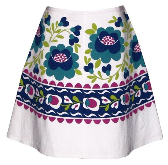 hungarian rhapsody skirt  blue and by madewithlovebyhannah on Etsy, $62.00