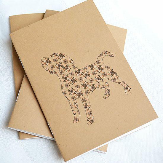 Little Notebooks Kraft Beagle  Set of 2 Dog by RiverDogPrints, $10.00