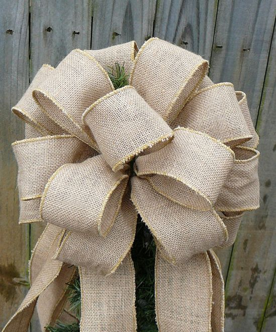 Burlap Tree Topper - Christmas Tree Topper - Burlap Tree -  Primitive Country Tree Top Bow in Burlap on Etsy, $49.00