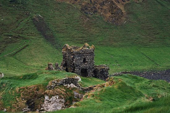 ruins of Kinbane Castle Ireland