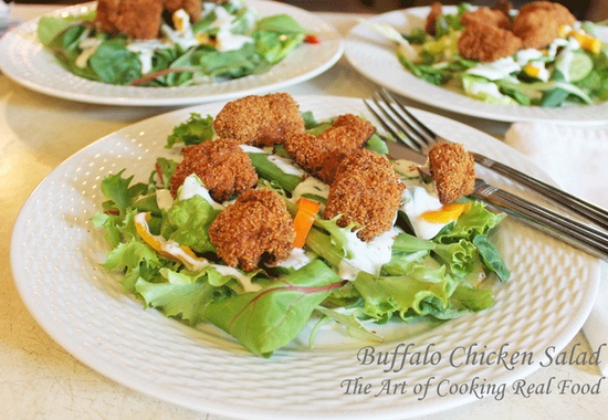 Buffalo Chicken Salad via The Art of Cooking Real Food